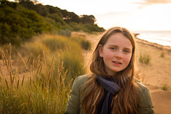 176-365 Pia Last Light Portrait (cohenvandervelde) Tags: camera shadow portrait people color colour souls silhouette 35mm canon flickr dof faces bokeh candid australia melbourne scout depthoffield explore creativecommons cowes decisivemoment candidportrait primelens 550d apsc 365project flickriver cropsensor canon550d 365project2016 cohenvandervelde