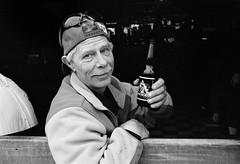 Ice Beer (geowelch) Tags: portrait beer bar 35mmfilm stclairwest pentaxmx xp2super400 pentaxm50mmf17 plustekopticfilm7400 torontophotowalkgroup topwsc