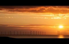 #NewBrighton (MMcStudio) Tags: sunset windfarm newbrighton liverpoolbay