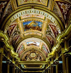 Under the Venetian Ceiling (evanffitzer) Tags: colour lines architecture painting photography hotel design artwork photographer lasvegas space casino ceiling dome venetian inside column fresco evanffitzer evanfitzer fujifilmx100s