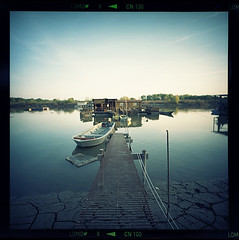 Rivers know: there is no hurry (A. A. Milne) - II (_thethinredline_) Tags: blue italy analog river lomography calm po analogica mantua lca120