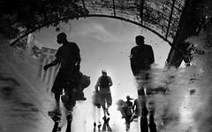 Water reflection - Wasser Reflexion (streetlifephotographer) Tags: street bw rust wasser streetphotography reflexion schatten eine europapark streetlifephotographer marcelburckhardt