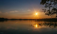 Good evening! Bonsoir! (grace.morgan100) Tags: trees sky landscape lake sunset water reflection sun light clouds tree summer beautiful grass waterscape trakai lithuania