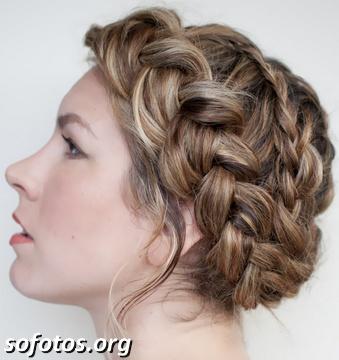 Penteado para noiva trançado