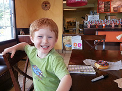 Happy to be at Dunkin Donuts (babyfella2007) Tags: pictures christmas old white playing jason black sc mushroom hat ball carson children outside restaurant dance child phone dancing cola drink eating grant south father barrel young balls coke son pit donuts taylor carolina cracker doughnuts duncan coca beaufort goodwill mellow batesburg