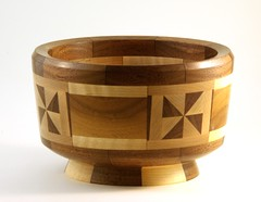 Segmented Bowl (C r u s a d e r) Tags: woodwork maple walnut bowl mahogany lathe woodturning segmented pentaxk10d