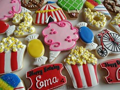 Carnival birthday (FlourDeLis) Tags: birthday carnival bike candy circus popcorn hotairballoon cottoncandy snowcone