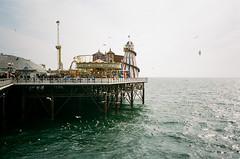 pier (f x d b b b t) Tags: uk greatbritain travel film 35mm pier brighton kodak iso400 iso contax 400 portra t2 contaxt2