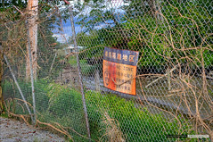 The Quarantined Zone (Clayton Perry Photoworks) Tags: abandoned film sign set vancouver fence japanese radiation richmond godzilla radioactive hdr props warnerbros fishingvillage toho finnslough godzilla2014