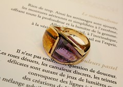 Duo amthyste et citrine (xavier a.m//) Tags: art or jewelry bijou jewels bague jewellers joaillerie bijoutier joaillierjewellers joailliercrateur