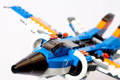 155:365:2013 - Thunder Wings (phil wood photo) Tags: blue june plane lego 365 creator day155 productphotography project365 2013 31008 colourchallenge thunderwings 3652013 04062013