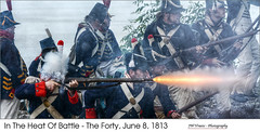 In The Heat Of Battle – The Forty, June 8, 1813  (HDR/Tone-Mapped) (jwvraets) Tags: nikon gimp battle reenactment hdr luminance grimsby musket gunfire ussoldiers nikkor70300vr qtpfsgui d7100 theforty warof181214