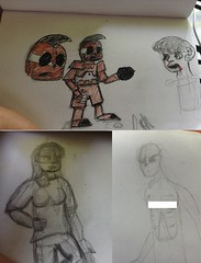 Sketches (Dr. Orange) Tags: girls people girl this robot sketch is drawing no ghost internet there wait kinda