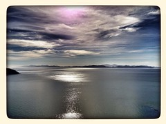 Lookin south (Chris Harrington-Lines) Tags: sea newzealand sky mountains clouds southisland calmsea