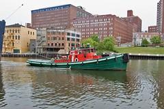 Tugboat Illinois in downtown Cleveland (SteveMather) Tags: ohio usa lake river illinois downtown ship cleveland canyon flats cuyahoga oh tugboat tug erie tow agawa stephenrmather
