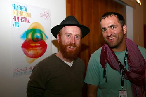 Director Khaled Jarrer attending Drinks at the Apex