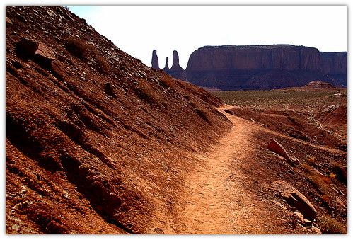 On the path in Monument Valley