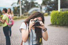 A Friendly Photographer (AubreyKingston.com) Tags: camera portrait mountain film girl analog 35mm hair lens quito ecuador nikon bokeh sony watch shutter d90 sonynex5n slrmagic35mmt14