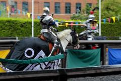 Jousting (jamesdonkin) Tags: horse public animal costume action leeds medieval tournament lance knight armour jousting royalarmouries platemail stacyevans historicalgarb sengeorge fullplatearmour