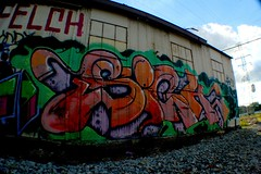 SIGH (AppliedKnowledge) Tags: graffiti track side richmond dos sigh d30 felch