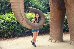 Mariya en el Mamut (Juanedc) Tags: barcelona people sculpture espaa elephant animal statue fauna spain gente maria catalonia escultura mammoth catalunya es estatua catalua elefante mariya mamut parquedelaciudadela mariyaprokopyuk