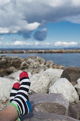 Socks (arkland_swe) Tags: sock gotland randigt strumpa flundreviken fotosondag fotosndag fs130929