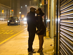 Ray of Kiss (Magic Pea) Tags: street nightphotography light people night photography photo kiss kissing couple candid streetphotography dalston snog eastlondon snogging magicpea