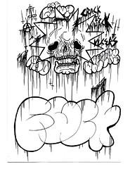 FUCK (VLCERS) Tags: art halloween illustration death skull artwork artist fuck drawing cartoon lisa treehouse bones horror illustrator cartoons simpson illuminati vlcers iheartvlcers