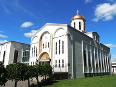 St Clement of Ohrid Macedonian Orthodox Cathedral .... Toronto, Ontario (Greg's Southern Ontario (catching Up Slowly)) Tags: toronto church architecture nikon cathedral christian orthodox byzantine macedonian stclementofohridmacedonianorthodoxcathedral