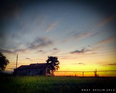 Deep-in-the Heart-of-Texas (Ray Devlin) Tags: ranch sunset sky stars twilight texas farm houston