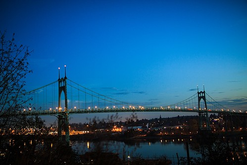 St. Johns Bridge Sunrise Wed 11/27/13