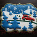 """Christmas Tree,"" cookie art (inspired by a Steve Mack design). Artist: Rebecca Weld, Potsdam NY"