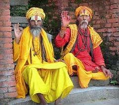 Sadhus (PeterCH51) Tags: nepal portrait people temple good holy kathmandu sadhu holyman pashupatinath pashupatinathtemple sadhus 5photosaday mywinners flickraward sādhu peterch51 flickrtravelaward