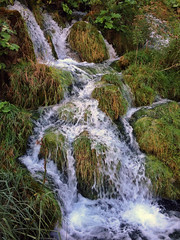 the touch of water (placeinsun) Tags: park water waterfall croatia plitvice