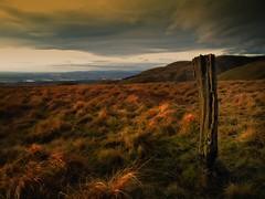 The Last Post (Douglas Hamilton ( days well spent )) Tags: landscape scotland post hamilton hills douglas hillwalking ochils ochil clackmannanshire hs10 fujihs10