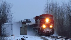 CP 119 at Elmsley East (ConrailSD70MAC) Tags: winter snow ontario canada squall train pacific railway canadian signals locomotive cp cpr freight es44ac elmsley