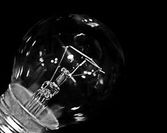 Idea (Lostash) Tags: detail macro glass bulb dark mono blackwhite filament