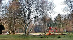 The Playground (farmspeedracer) Tags: park morning winter sky cold tree playground germany woods loneliness lonely february