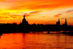 Sunset, Dresden