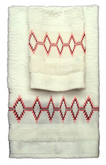 TCP-002 -Toallas de cortesía pequeñas (TOTOARTE) Tags: español bordado toalla cortesía vagonite técnicas puntodecruz yugoslavo toalladecortesía