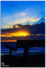 Ray of Sunshine (Brett Huch Photography) Tags: ocean sea sky seascape beach nature water sunrise waves seascapes australia qld queensland aussie sunshinecoast shellybeach wavesbreaking