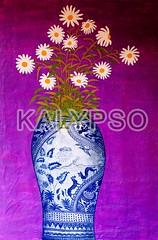 Oil Painting Of A Bouquet Of Daisies (kalypsoworldphotography) Tags: life blue white inspiration plant abstract flower detail green art texture love floral beauty wall modern daisies vintage painting photo leaf still hand bright blossom drawing decorative background interior room painted aquarelle decoration picture style happiness romance retro lila petal oil daisy bloom vase romantic bouquet arrangement