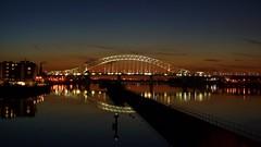 See the light? (Grains of Rice) Tags: longexposure bridge night sony alpha runcorn runcornbridge