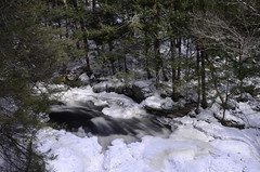 Doane's Falls (Spring Break!) (Christopher Wallace) Tags: longexposure trees winter wild white snow mountains green ice nature water weather pine creek forest landscape ma march waterfall woods nikon melting exposure massachusetts newengland springbreak filter pines nd melt 18200 pinetrees athol thaw rushing 18200mm neutraldensity 18200mmvr 10stop doanesfalls nd110 d7000 10stopfilter nikond7000