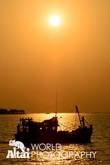 Fishing Boat at Sunset (Altai World Photography) Tags: sunset silhouette island islands coast boat fishing asia cambodia sihanoukville cambodian south traditional east southeast koh khm kou rong preahsihanouk sanloem