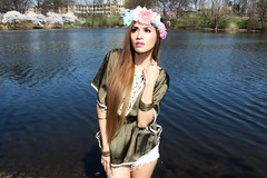 Kelana (Hypnotica Studios Infinite) Tags: lake beauty fashion exotic cherryblossom newark filipina kelana njmodel reorderr boundbrookpark
