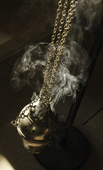 Let my Prayer Rise like Incense (Lawrence OP) Tags: chains edinburgh catholic dominican smoke chapel incense chaplaincy thurible stalbertthegreat