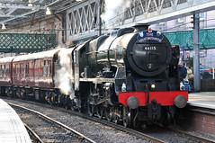 46115 at Waverley (SC-Fifer) Tags: west coast scotland britain great royal steam scot railways vii scots waverley guardsman 46115