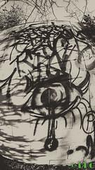 Hidden Art (DKG Images) Tags: street winter sun canada color brick art love graffiti other decay joy damien fisheye explore abandon alberta someone 8mm 1a goodyear bower dkg explored dkgimage dkgimages