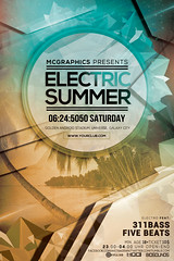 ELECTRIC SUMMER (movingclays) Tags: party house love halloween colors festival rock dance flyer model artist dj peace graphic nightclub indie speaker electro techno beast hiphop guest breakdance psd drumbass template dubstep